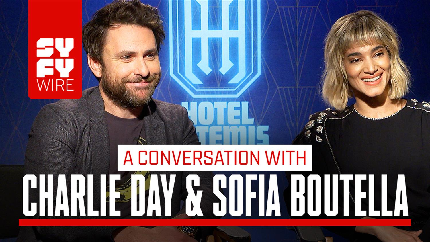 Hotel Artemis: Sofia Boutella and Charlie Day Interview