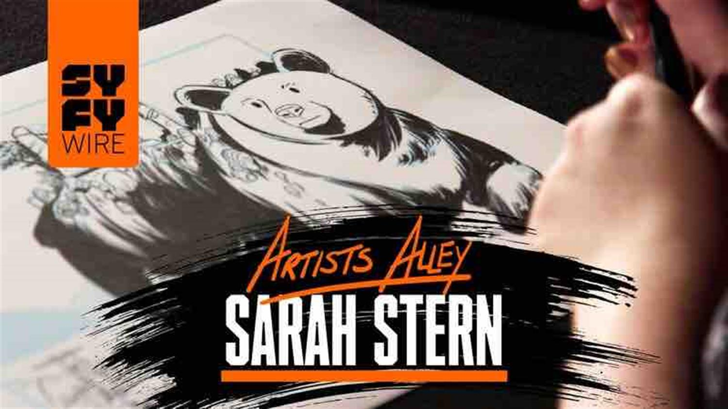Watch Sarah Stern Draw Cool Monsters (Artists Alley)