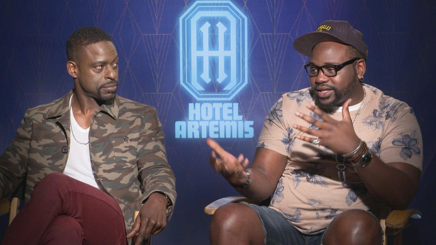 Hotel Artemis' Sterling K Brown & Brian Tyree Henry on BFFs Working Together & Love of Syfy