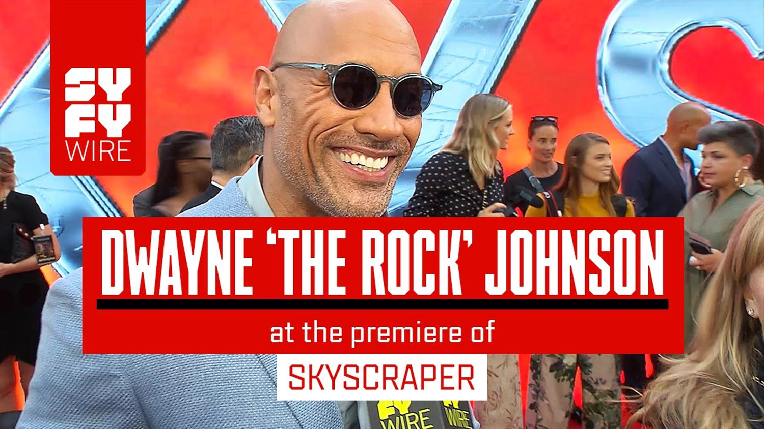 Dwayne The Rock Johnson at the Skyscraper Red Carpet