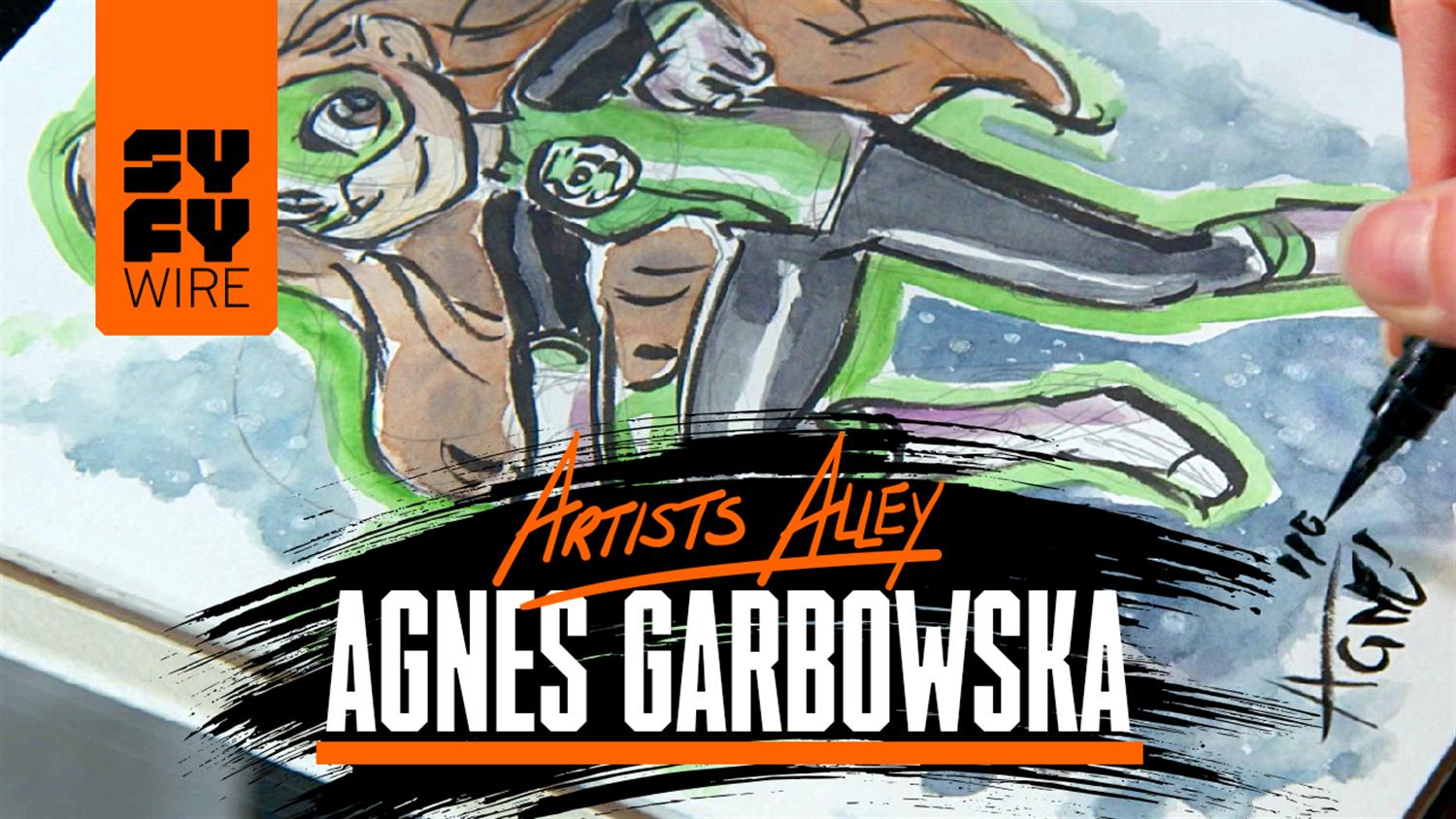 Watch Agnes Garbowska Sketch DC Super Hero Girls' Green Lantern - Artists Alley