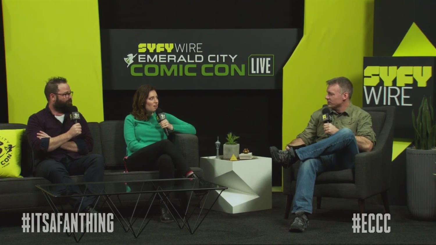 SYFY WIRE Sunday Morning Show (ECCC 2019)