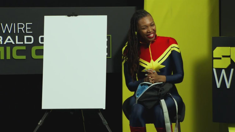 WATCH: Afua Richardson Draw A Dora Milaje Live (ECCC 2019)