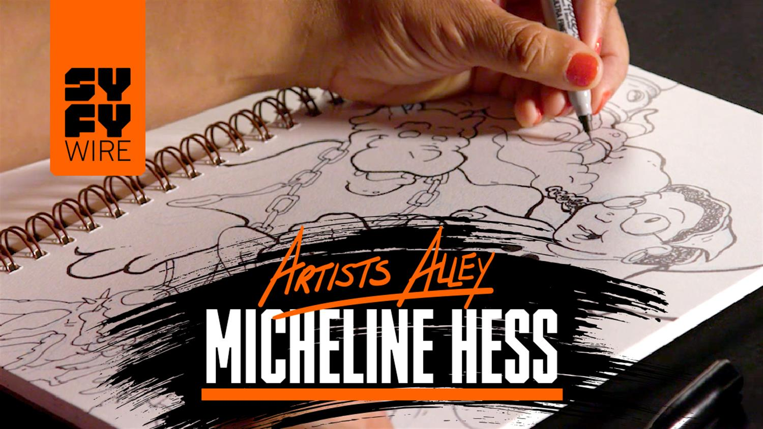 Watch Micheline Hess Sketch Malice in Ovenland (Artists Alley)