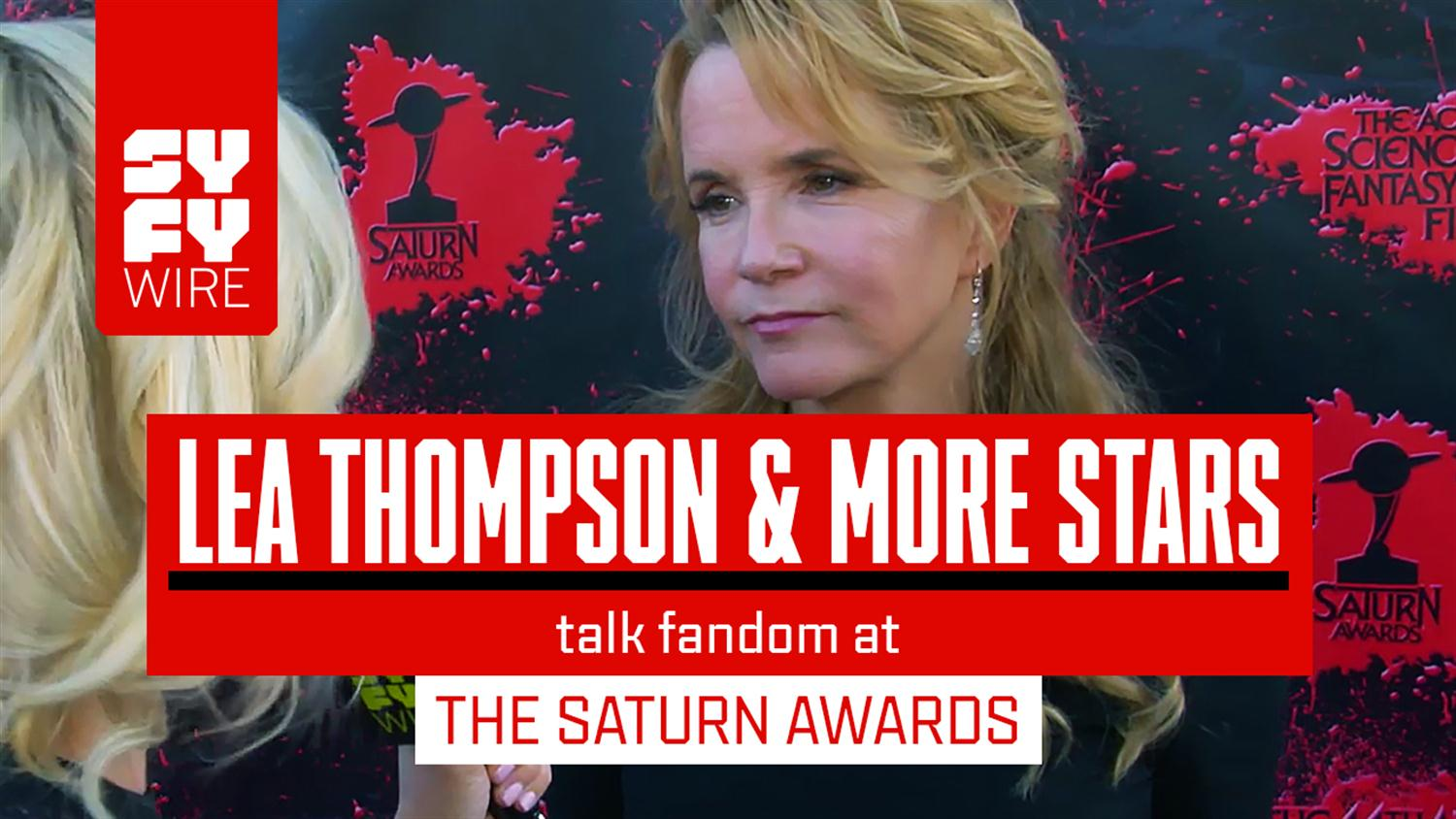Lea Thompson, Lindsey Morgan & Other Stars Talk about Scifi & Horror Fans at the Saturn Awards