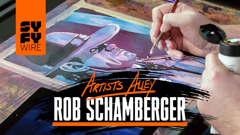 WWE Artist Rob Schamberger Paints The Undertaker