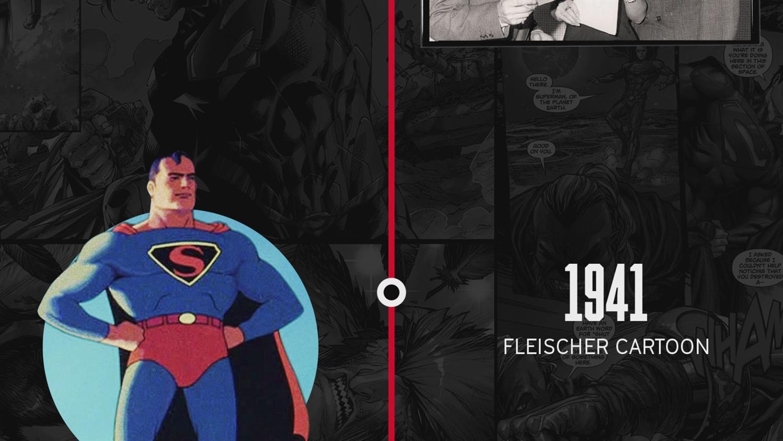 Timeline of Superman in Media: 1938 - 2018