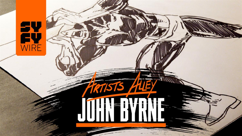 Watch John Byrne Draw Cyclops (Artists Alley)