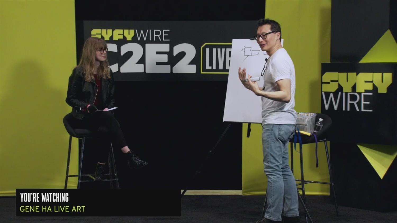 WATCH: Gene Ha Draw a Dragon (C2E2 2019)
