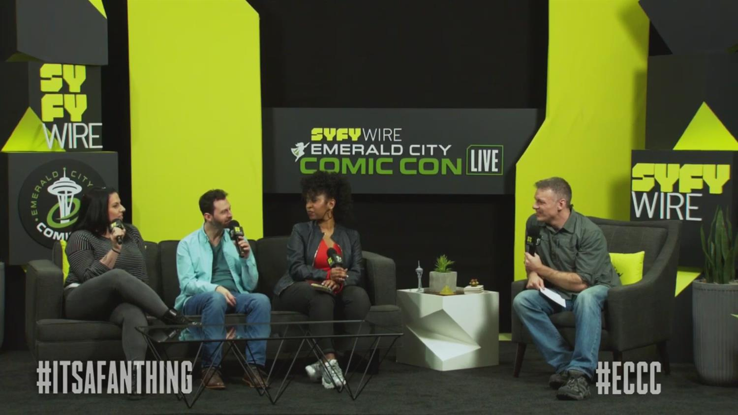 SYFY WIRE Friday Morning Con Kick-Off (ECCC 2019)