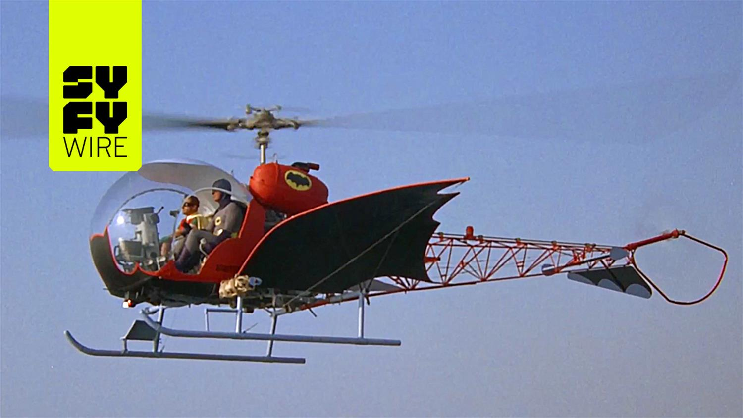 Take A Ride In The Batcopter From The 1960s TV Show