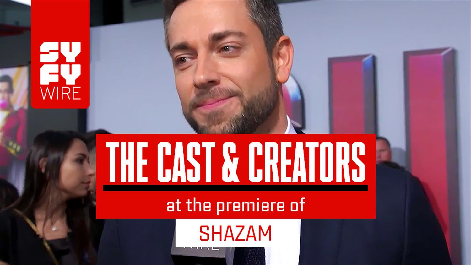 Shazam Cast At the Carnival Red Carpet Previews Movie